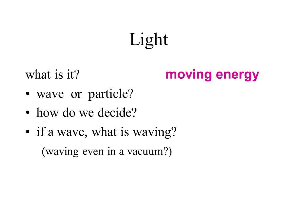 Property 2: Color experiment ? particle (photon) ? wave (E&M) ?