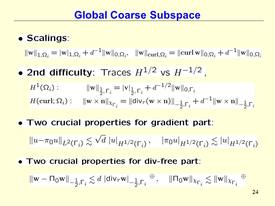 24 Global Coarse Subspace