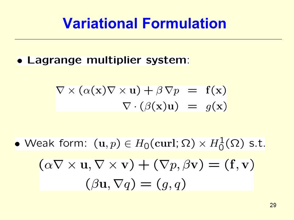 29 Variational Formulation