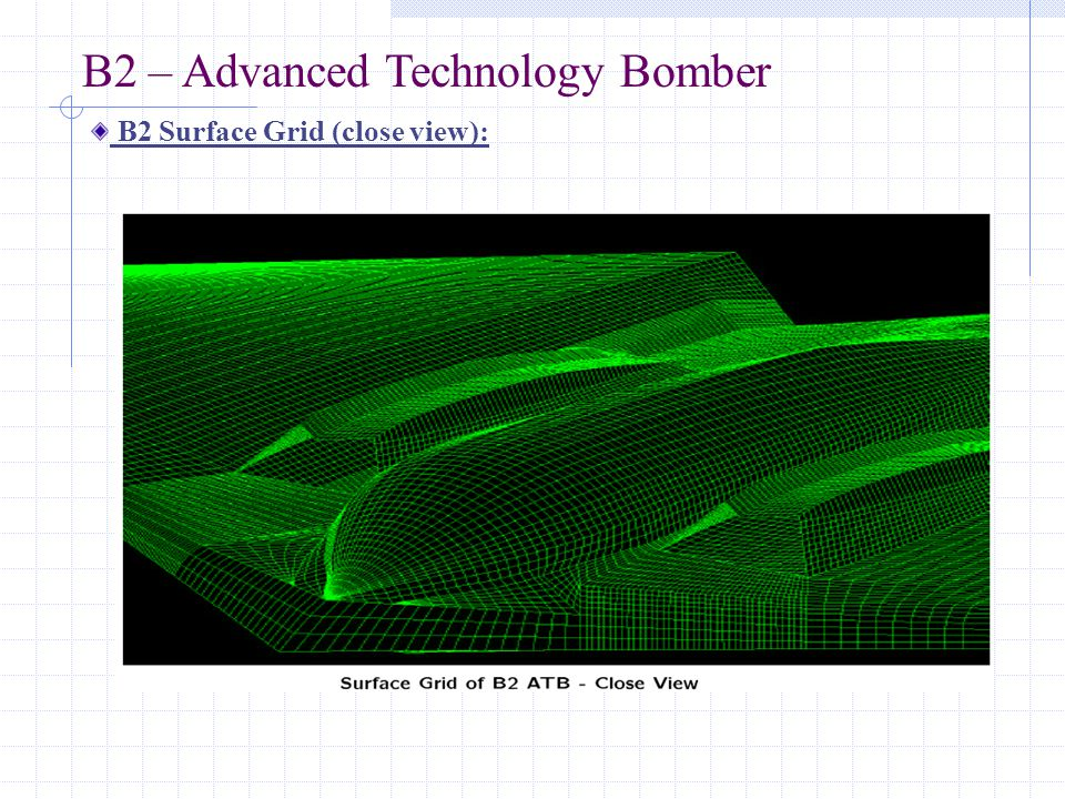 B2 – Advanced Technology Bomber B2 Surface Grid (close view):