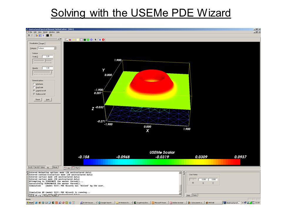22 Solving with the USEMe PDE Wizard