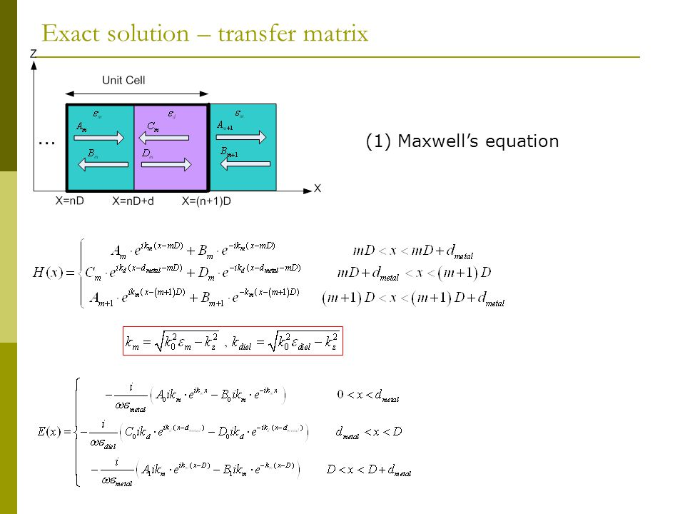 (1) Maxwell's equation