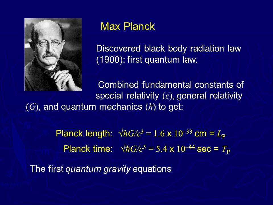 Max Planck Discovered black body radiation law (1900): first quantum law.
