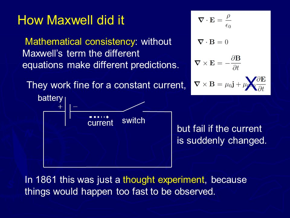 How Maxwell did it He also used physical models, and effective field theory.