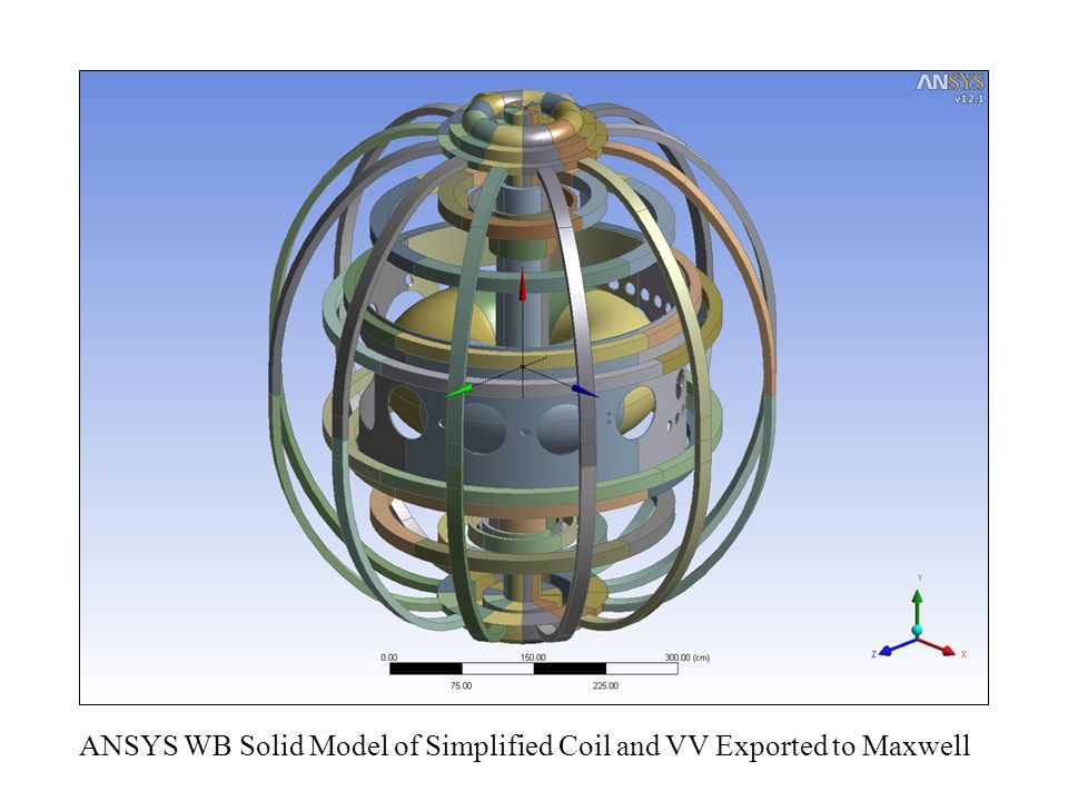 ANSYS WB Solid Model of Simplified Coil and VV Exported to Maxwell