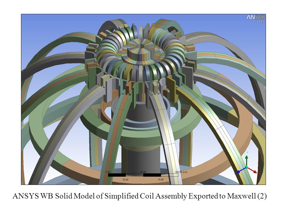 ANSYS WB Solid Model of Simplified Coil Assembly Exported to Maxwell (2)