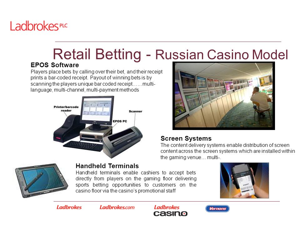 Handheld Terminals Handheld terminals enable cashiers to accept bets directly from players on the gaming floor delivering sports betting opportunities