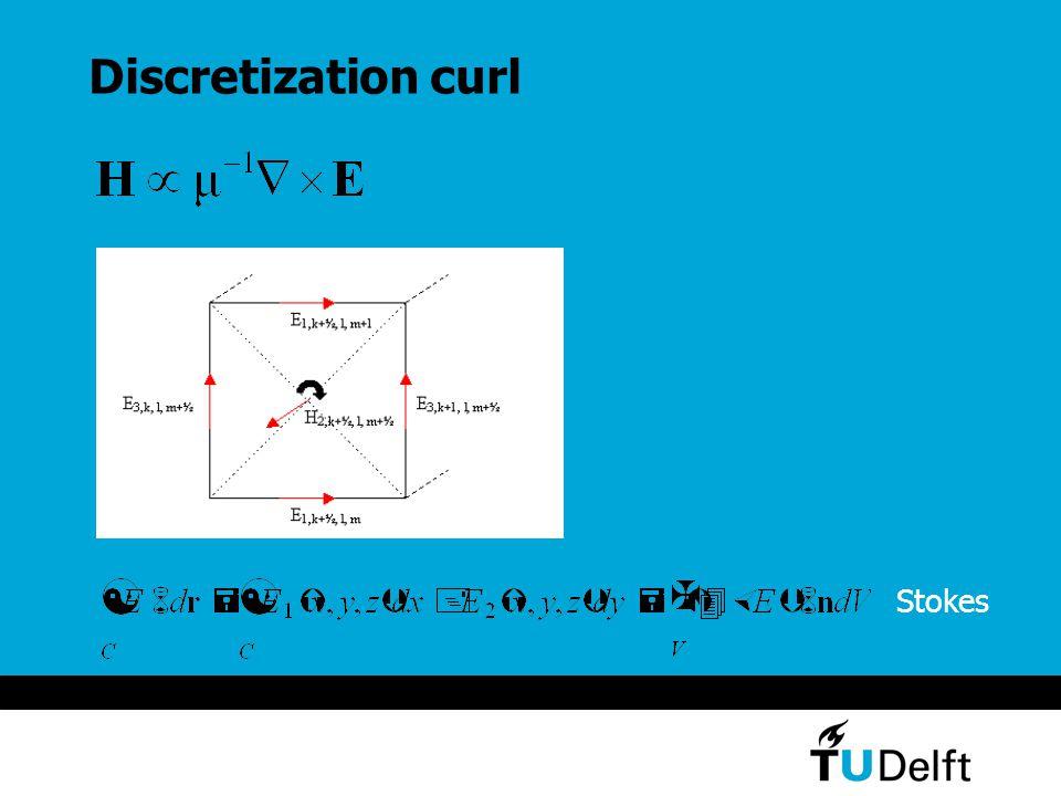 Discretization curl Stokes