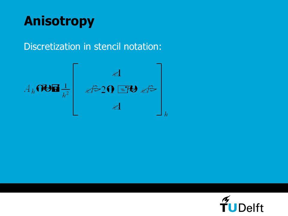 Anisotropy Discretization in stencil notation: