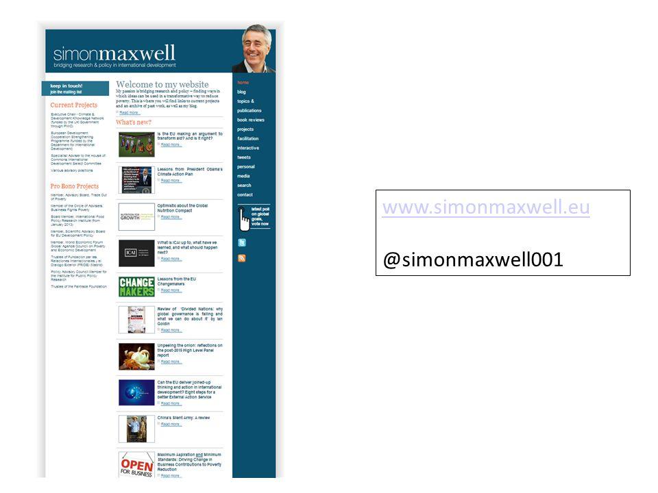www.simonmaxwell.eu @simonmaxwell001