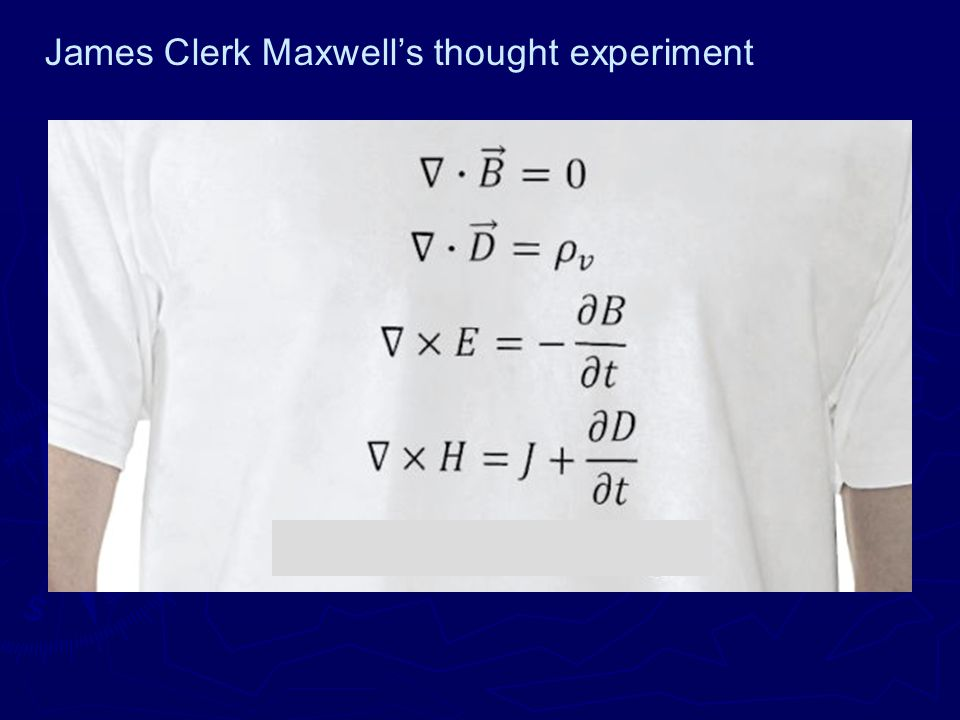 James Clerk Maxwell's thought experiment