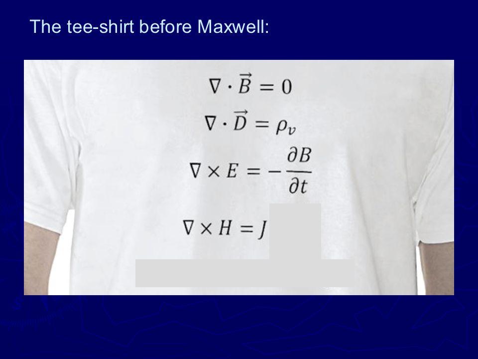 The tee-shirt before Maxwell: