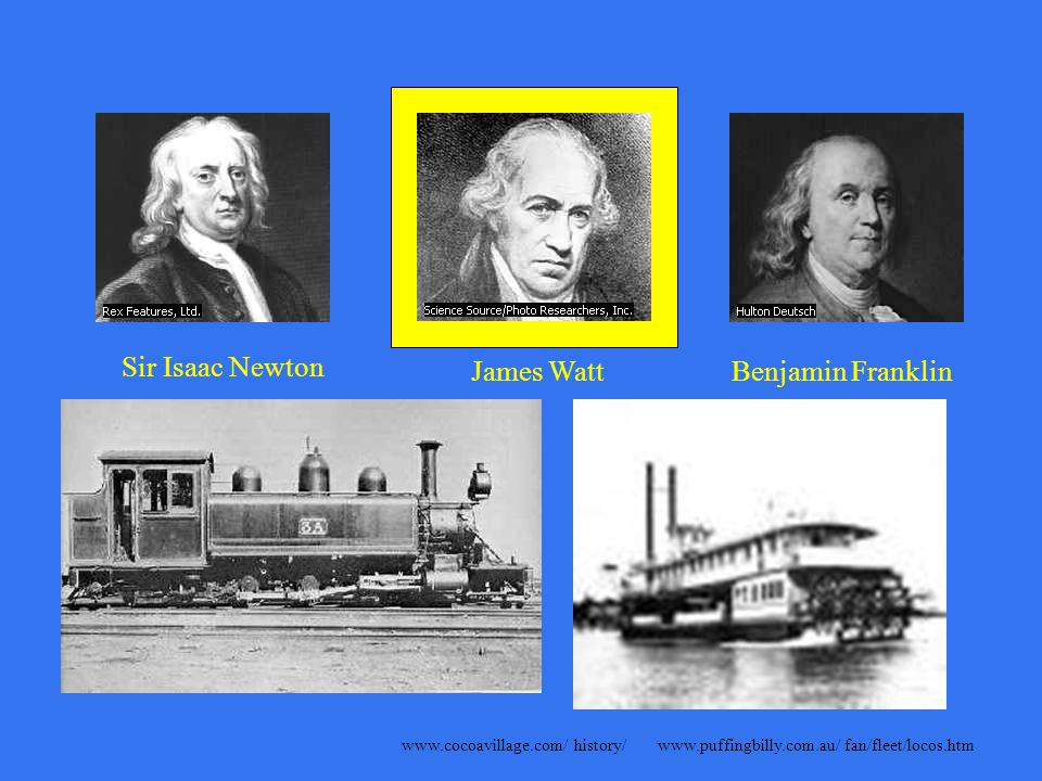 Sir Isaac Newton James WattBenjamin Franklin James MaxwellAlbert Einstein