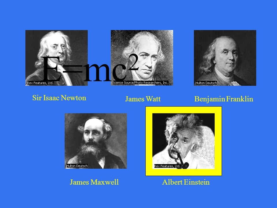 Sir Isaac Newton James WattBenjamin Franklin James MaxwellAlbert Einstein www.iihr.uiowa.edu/.../Romania/ Romania-page2.htm