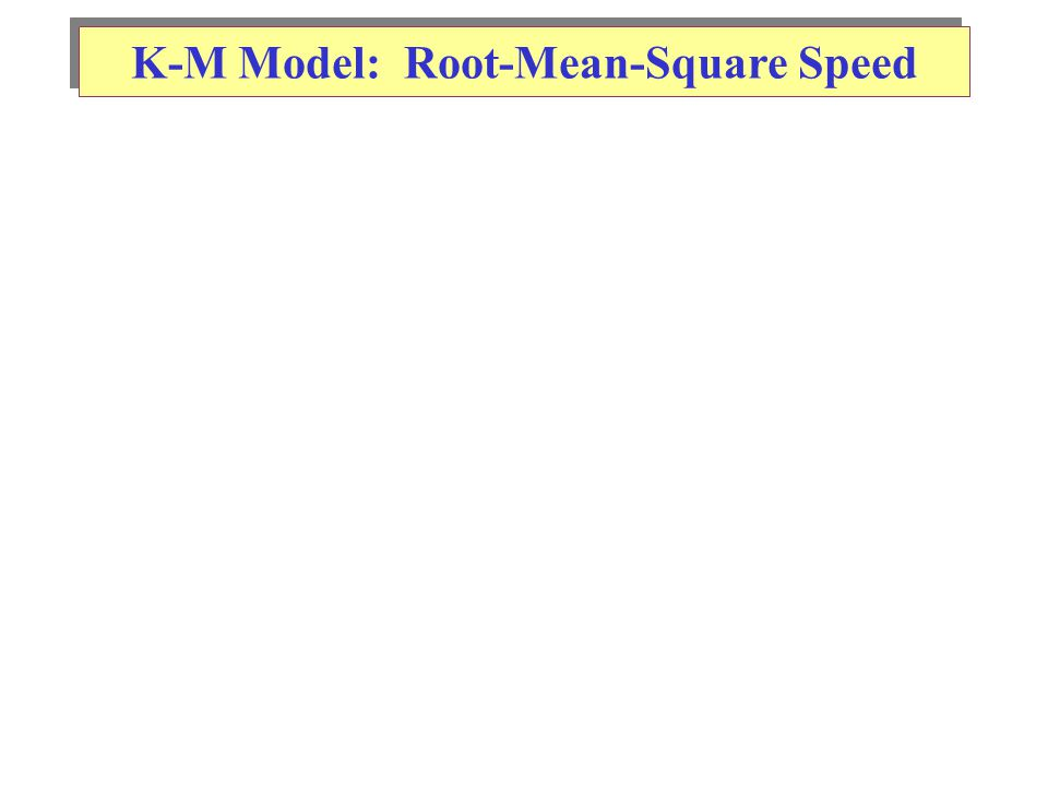 K-M Model: Root-Mean-Square Speed