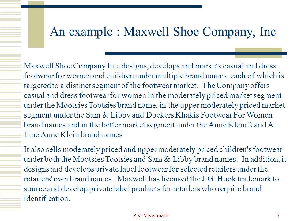 P.V.Viswanath6 An example of an Accountant's Balance Sheet Maxwell Shoe Company, Inc.