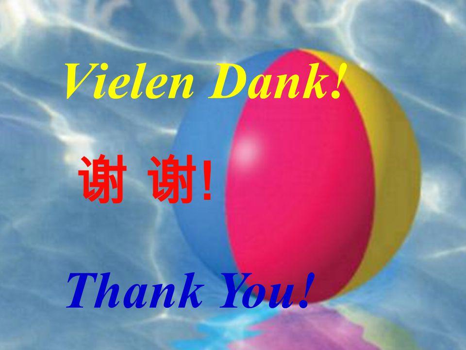 22 Vielen Dank! 谢 谢!谢 谢! Thank You!