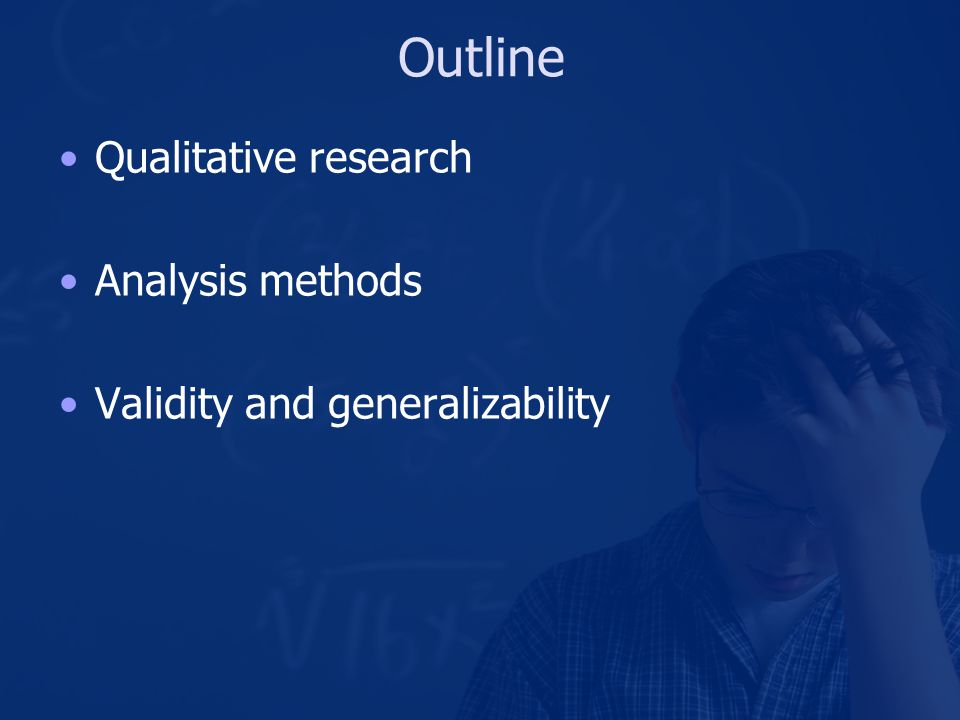Qualitative Research Methods Interviews Ethnographic interviews (Spradley, 1979) Contextual interviews (Holtzblatt and Jones, 1995) Ethnographic observation (Spradley, 1980) Participatory design sessions (Sanders, 2005) Field deployments
