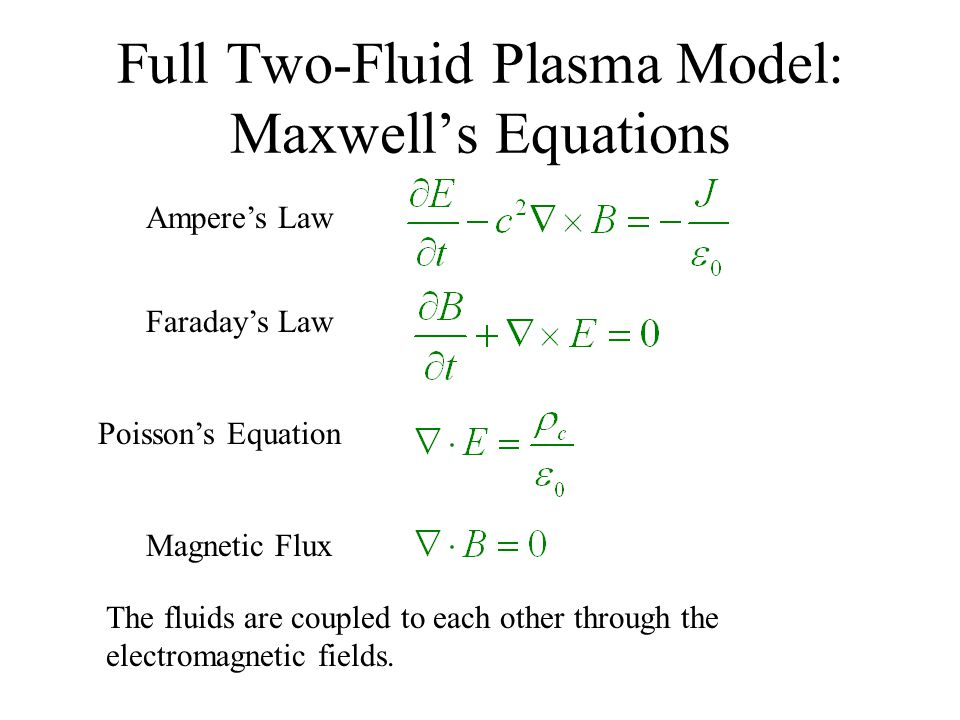 Maxwell's Equations – Mixed Potential Formulation The potential equations can be used to ensure the divergence equations are satisfied.