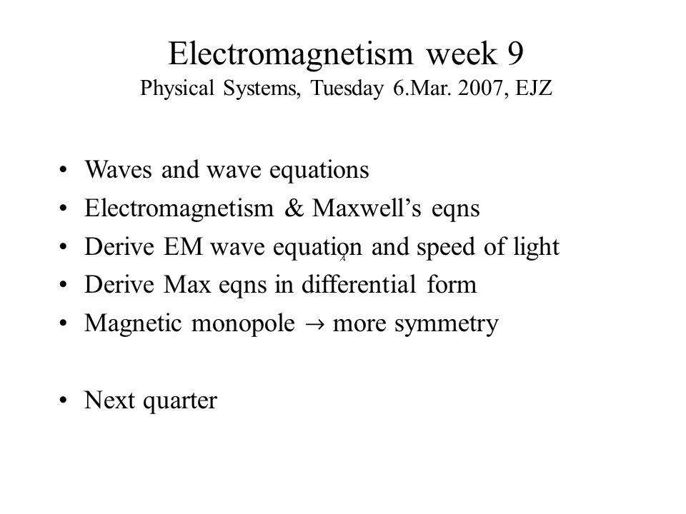 Speed of Maxwellian waves.