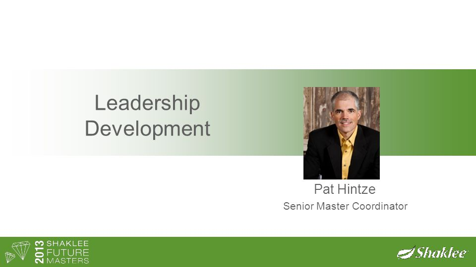 Leadership Development Pat Hintze Senior Master Coordinator