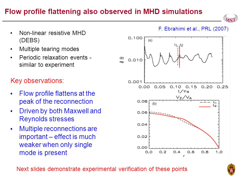 Core flow measurements Rutherford scattering – poloidal flow.