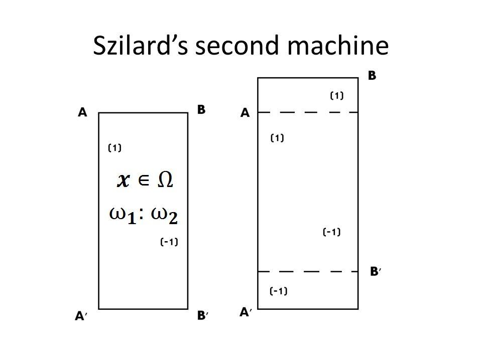 Szilard's second machine