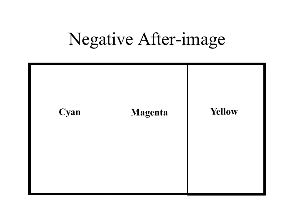 Negative After-image Cyan Magenta Yellow