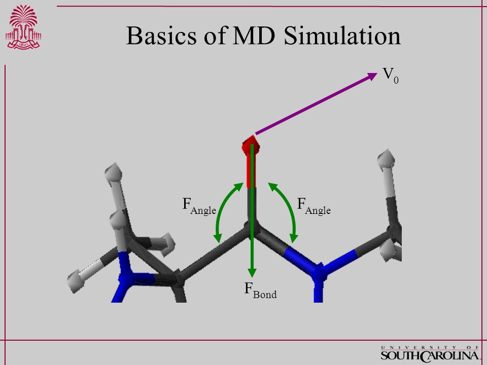 Basics of MD Simulation V0V0 F Bond F Angle