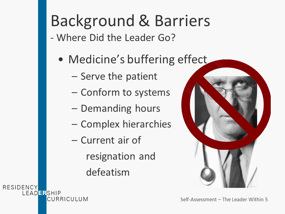 Background & Barriers - Where Did the Leader Go.