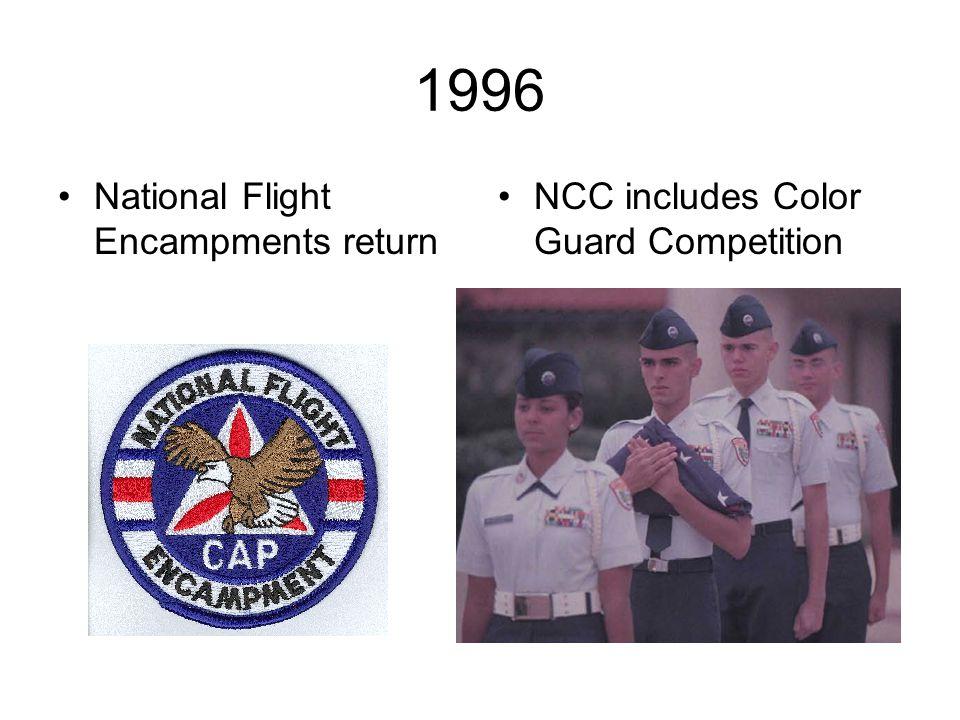 1996 National Flight Encampments return NCC includes Color Guard Competition