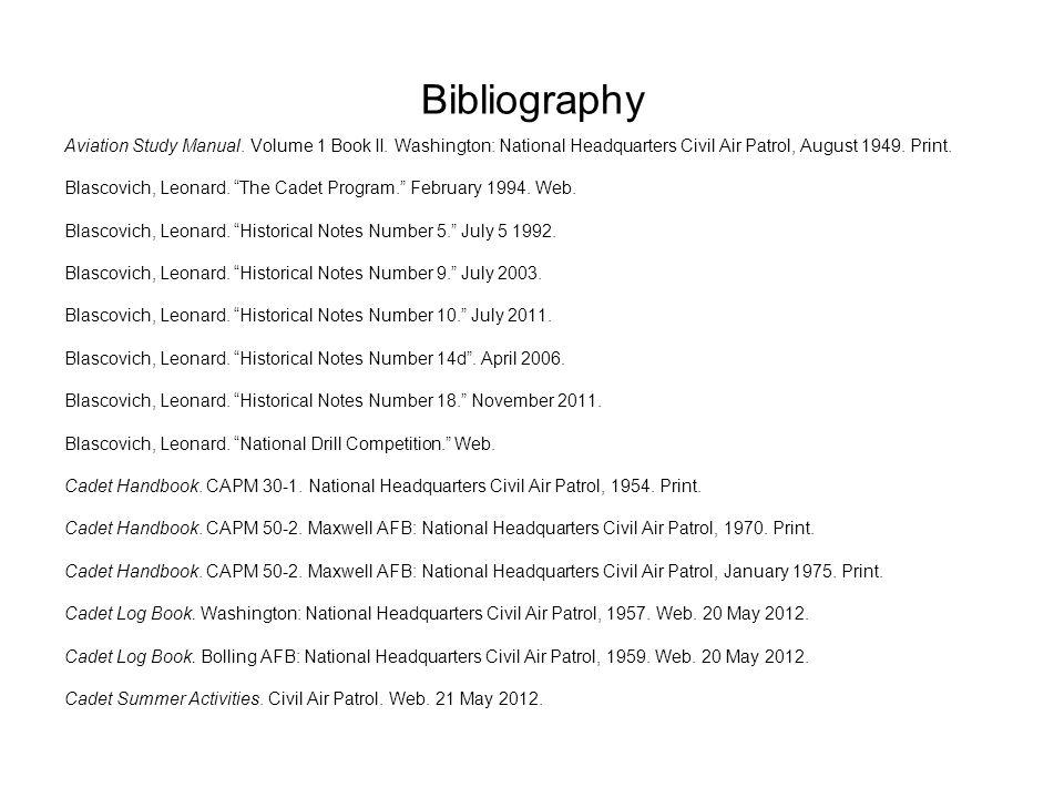Bibliography Aviation Study Manual. Volume 1 Book II.