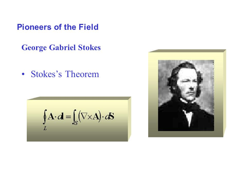 Pioneers of the Field George Gabriel Stokes Stokes's Theorem