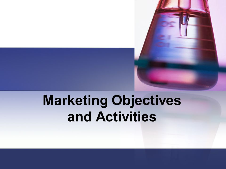Marketing Objectives and Activities