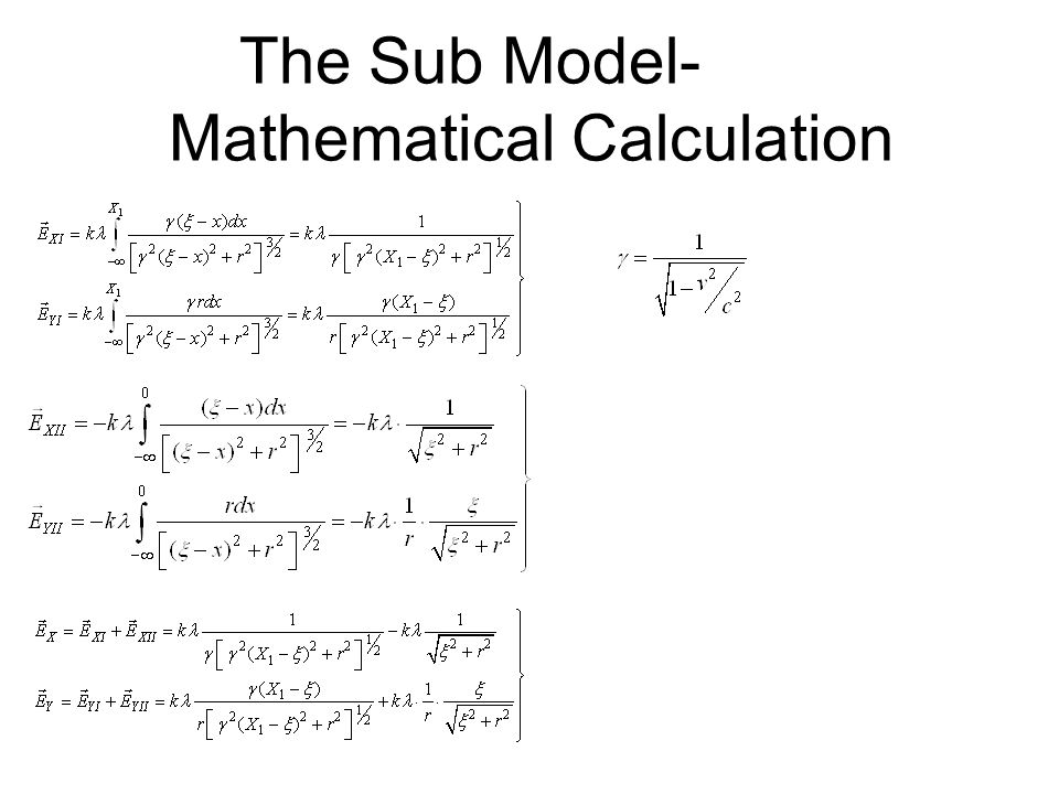 The Sub Model- Mathematical Calculation