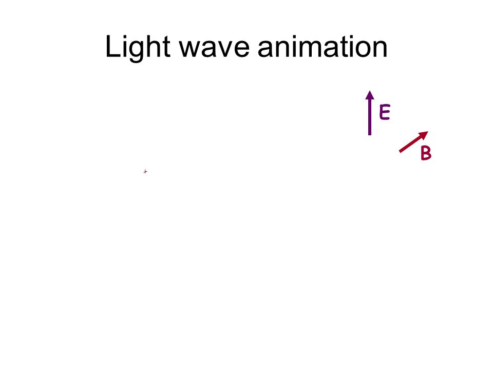 Light wave animation E B