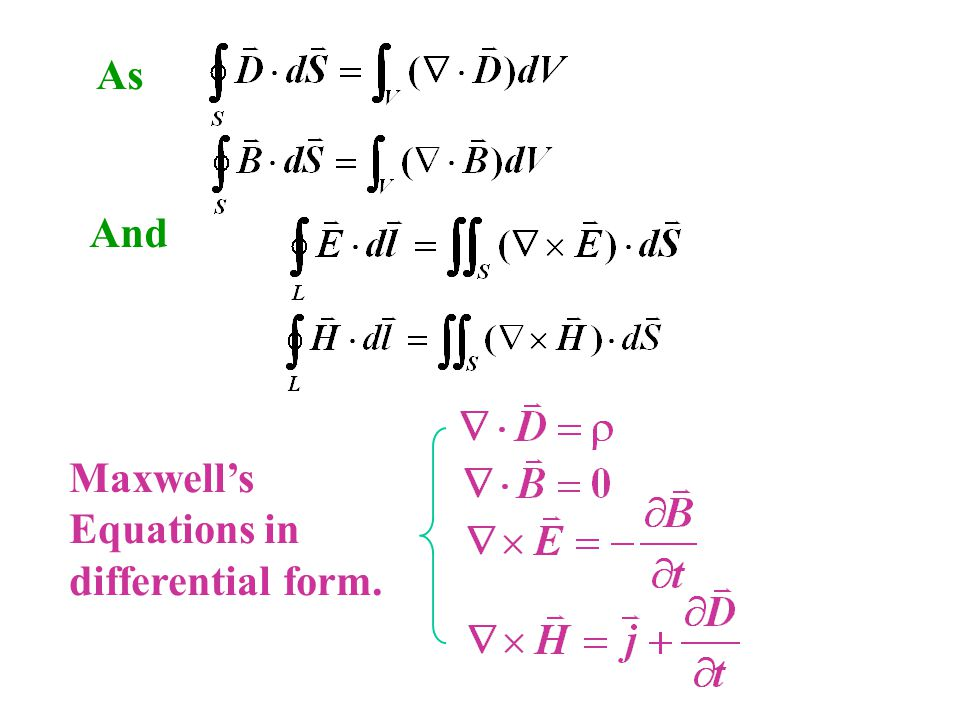 As Maxwell's Equations in differential form. And