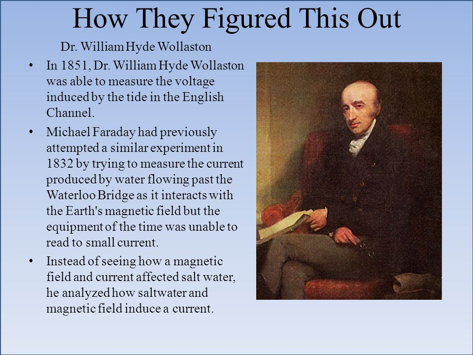 How They Figured This Out Dr. William Hyde Wollaston In 1851, Dr.