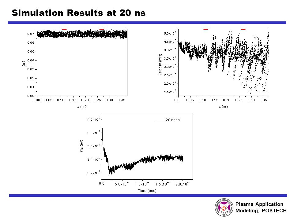 Plasma Application Modeling, POSTECH Simulation Results at 20 ns