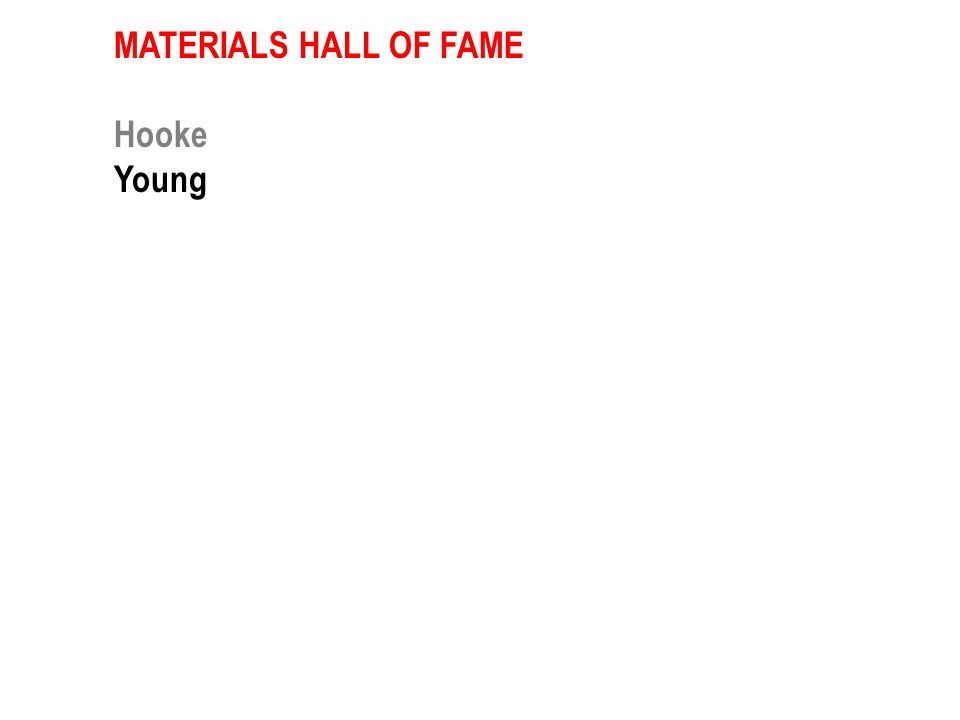 MATERIALS HALL OF FAME Hooke Young