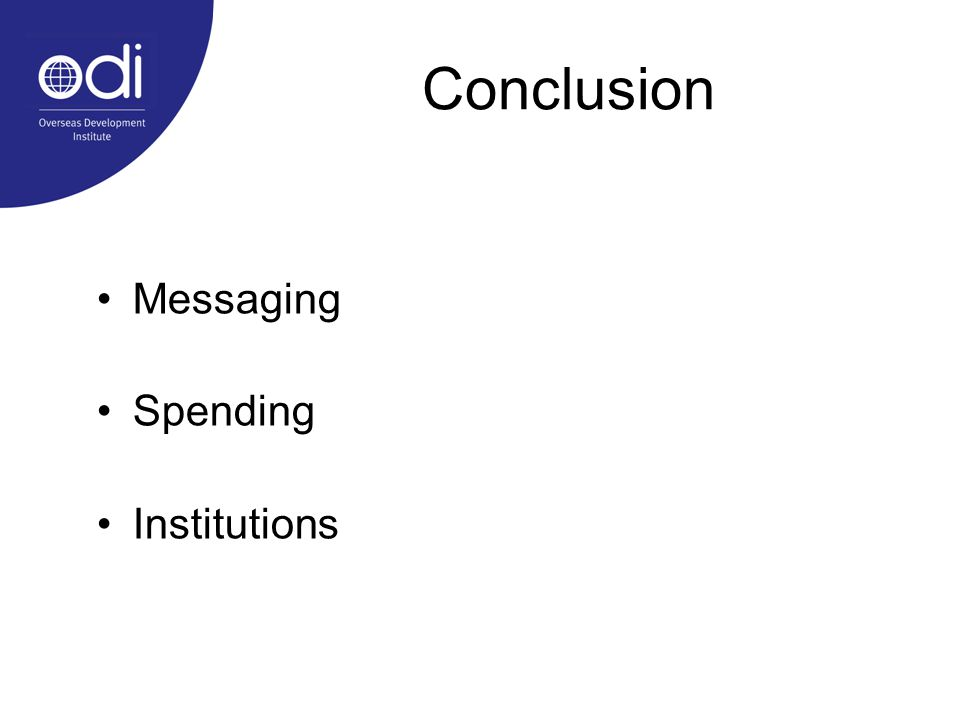 Messaging Spending Institutions Conclusion