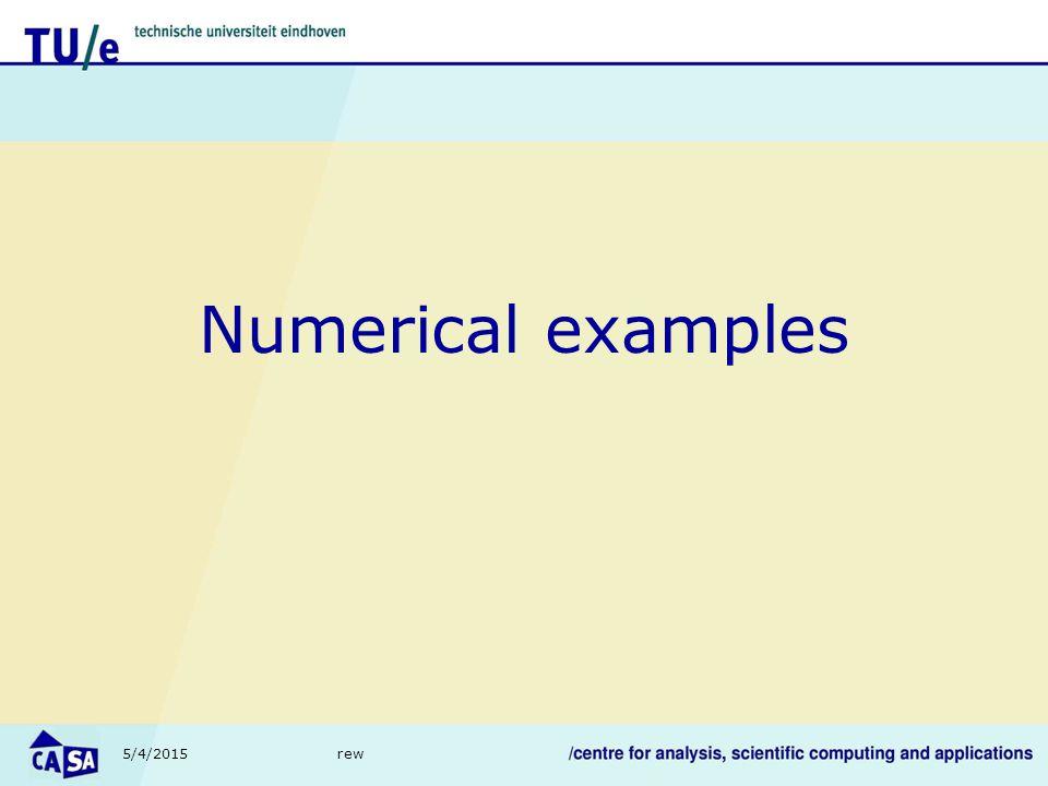 5/4/2015rew Numerical examples