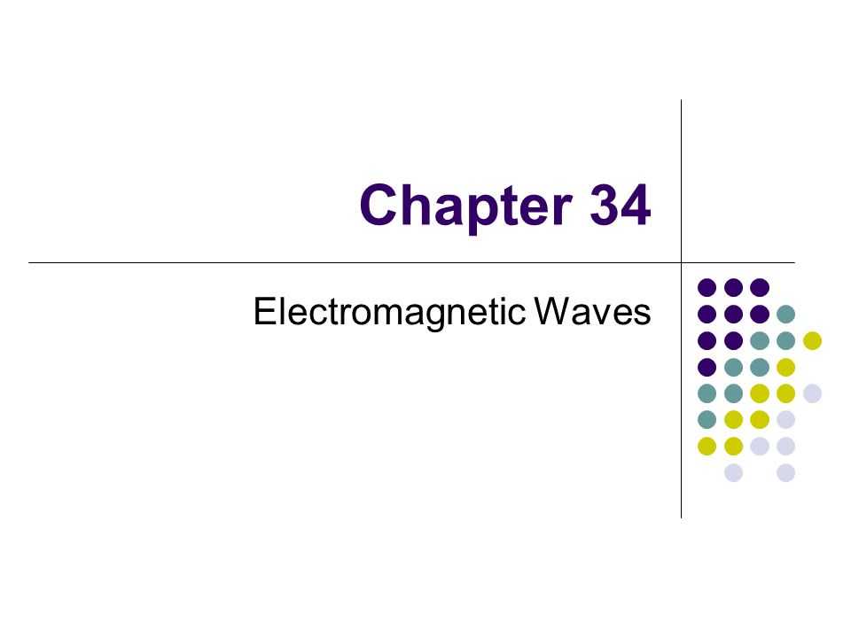 Chapter 34 Electromagnetic Waves