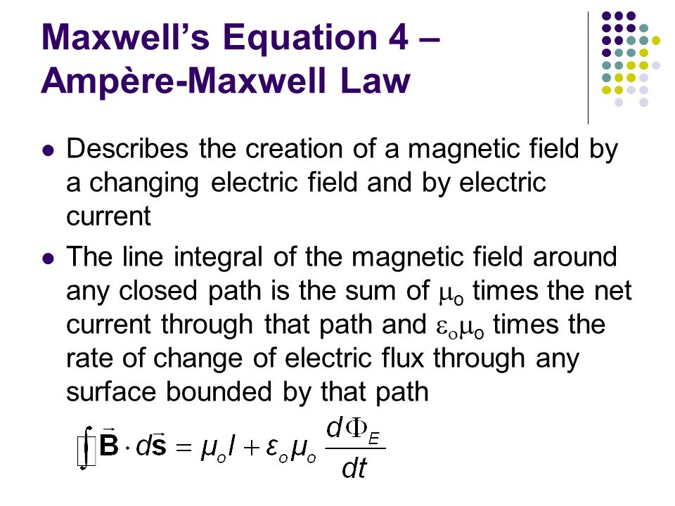 Lorentz Force Law Once the electric and magnetic fields are known at some point in space, the force acting on a particle of charge q can be found Maxwell's equations with the Lorentz Force Law completely describe all classical electromagnetic interactions