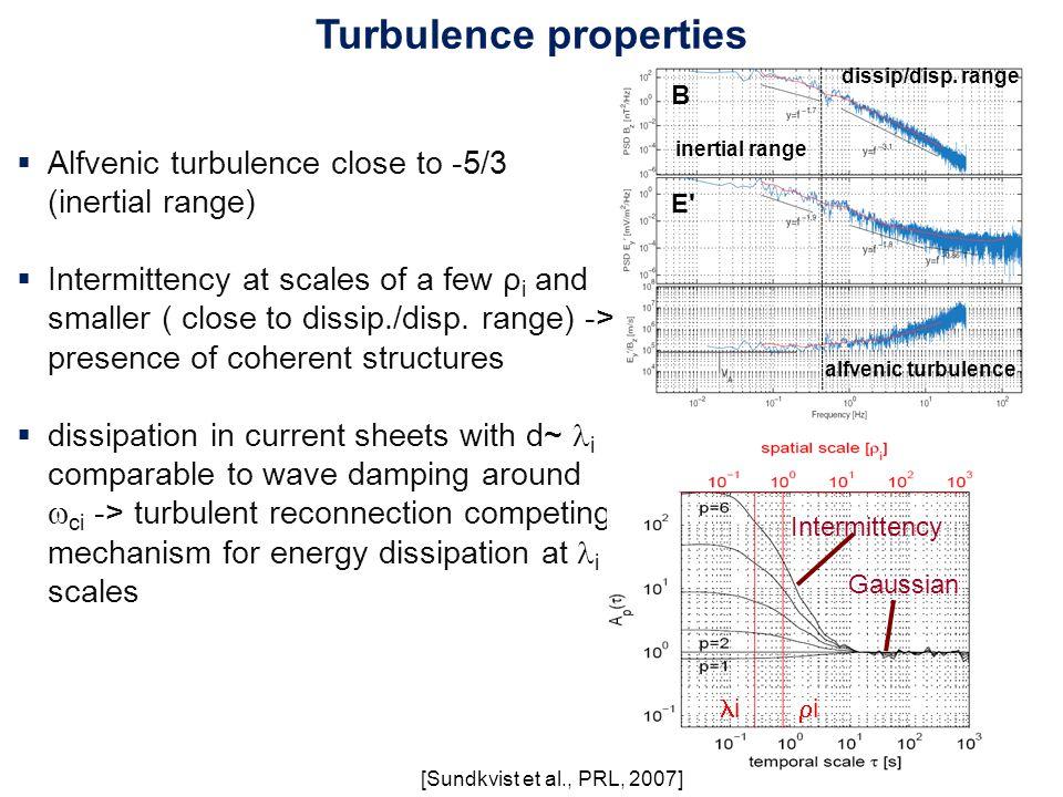 Turbulence properties inertial range dissip/disp.