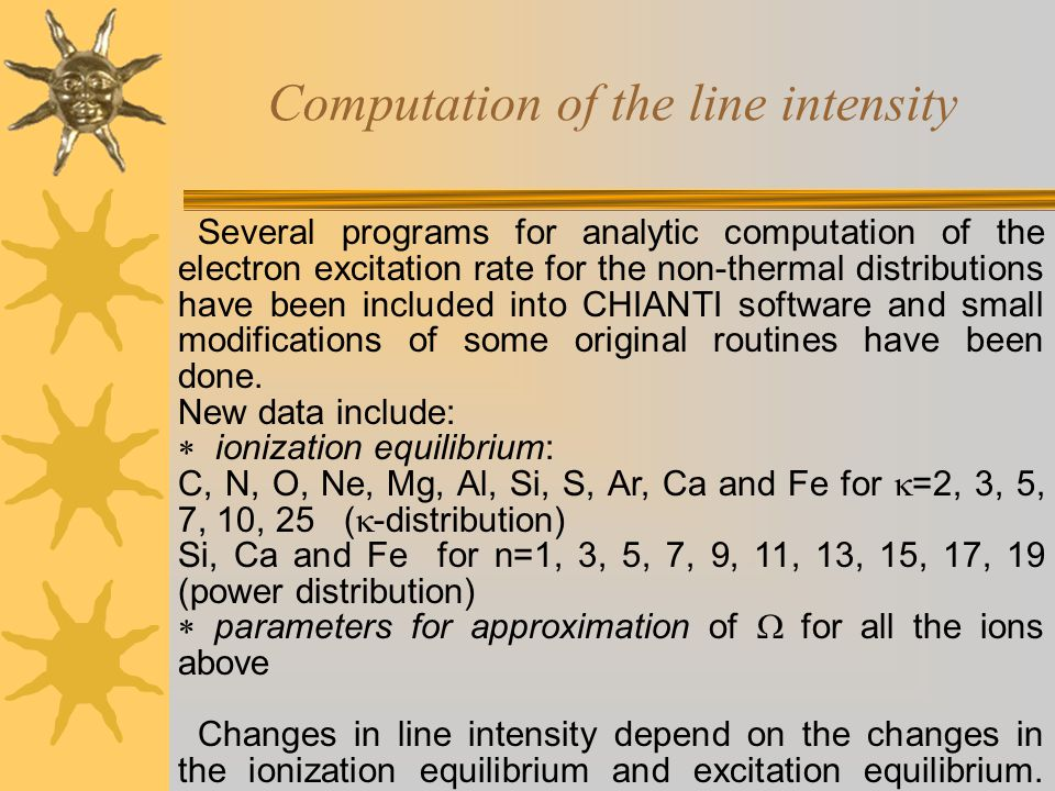 Non-thermal distributions: power distribution Pseudo-temperature