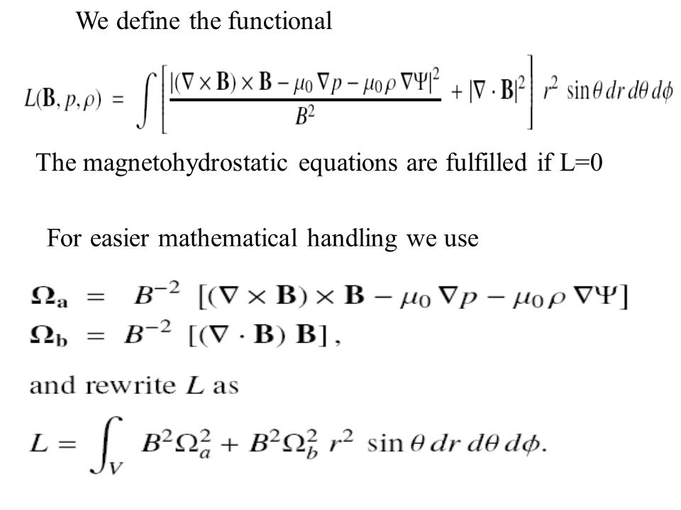 20 Iterative Equations ensure monotonously decreasing functional L for vanishing surface integrals (boundary conditions).