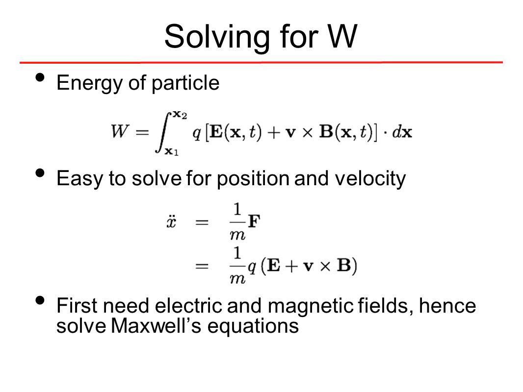 Cavity BPM theory Beam transit excites both Calculate W.