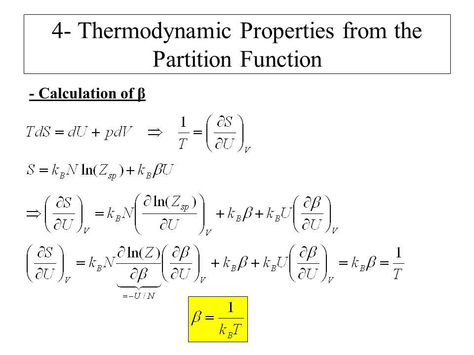 - Calculation of β