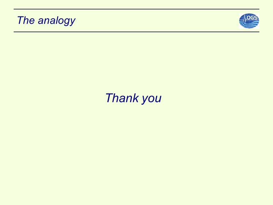 The analogy Thank you